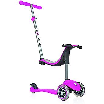 Globber 4-in-1 Scooter With Light Up Wheels Deep Pink