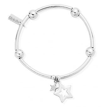 ChloBo Nudel Ball Doppel Stern Armband