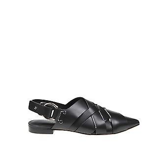 3.1 Phillip Lim Sse0t681jarba001 Women's Black Leather Slippers