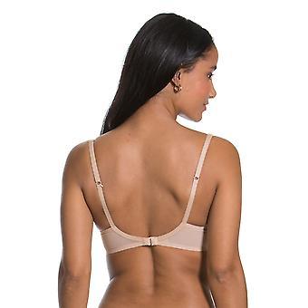 Gossard 15301 Women's Scarlett Nude Bege Spotted Acolchoado Fio Push Up Plunge Bra