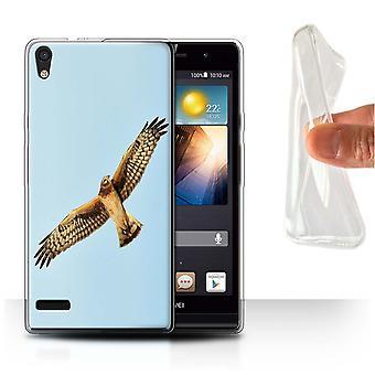 STUFF4 Gel TPU Case/Cover for Huawei Ascend P6/Hen Harrier/Birds of Prey