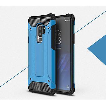 Stuff Certified® Samsung Galaxy A8 2018 - Armor Case Cover Cas TPU Case Blue