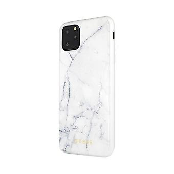 Guess Marble Collection Apple iPhone 11 White Hard Case Cover Custodia