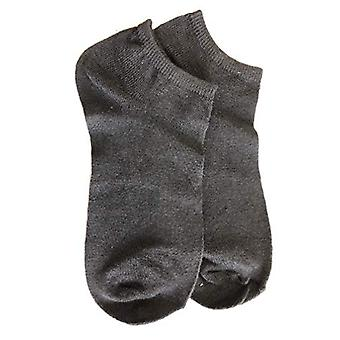 OIIMEBUA Girls' Big Short Socks, black, Women Shoe 5-7.5/ Women Shoe 7.5-10