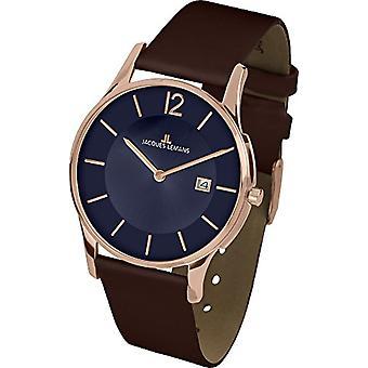 جاك Lemans 1-1850I-الجنسين ساعة اليد والجلود واللون: براون
