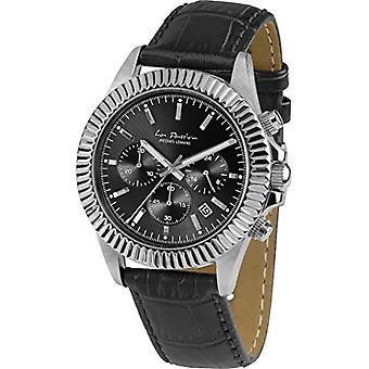 Jacques Lemans unisexe Quartz montre chronographe avec bracelet en cuir LP-111 a