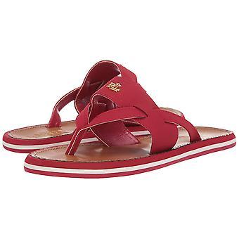 Lauren by Ralph Lauren Womens Rosalind Leather Open Toe Casual Slide Sandals
