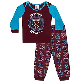 West Ham United Baby Pyjamas Long Boys Kids Official Football Gift