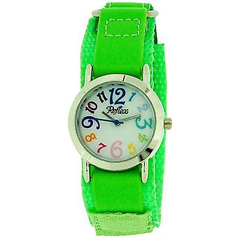 Reflex Kids analóg lime Green Easy Fasten szövet szíj Watch KID-0076