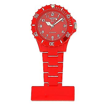Prince London Plastic Red Rotating Bezel Unisex Nurses Fob Watch PI-4010