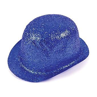Glitter blauw Plastic Bowler