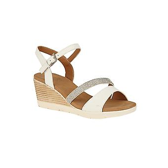 Lotus Lilou Wedge Sandali in bianco