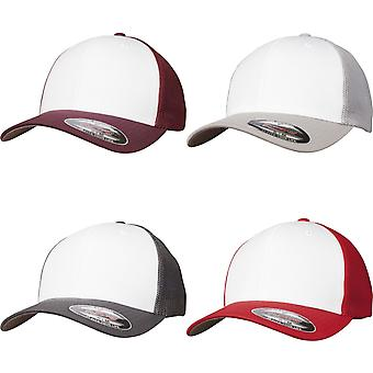 Flexfit by Yupoong Adults Unisex Coloured Front Mesh Trucker Cap