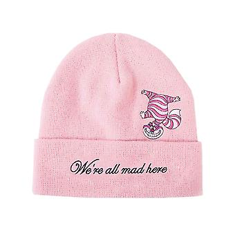 Alice In Wonderland Beanie Hat Cheshire Cat All Mad Here Official Disney Pink