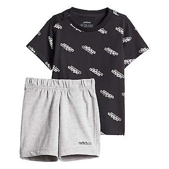 アディダス お気に入り 幼児キッズボーイズ Tシャツ&ショートサマーセット ブラック/グレー