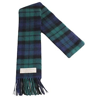Locharron of Scotland Black Watch Modern Lambwool Scarf - Dark Green/Navy/Black