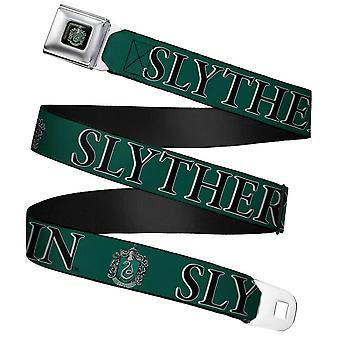 Harry Potter Slytherin Crest Webbing cintura di sicurezza Buckle Cintura