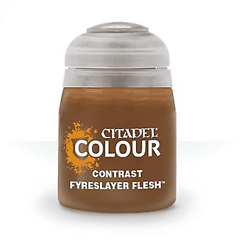 Contrast: Fyreslayer Flesh (18ml) ,Citadel Paint Contrast, Warhammer 40,000