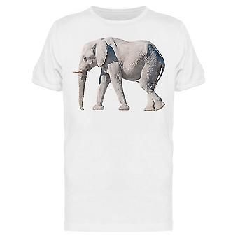 Valkoinen Afrikkalainen Elefantti, upea Tee Men's -Kuva Shutterstock