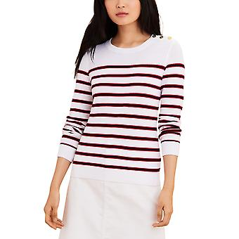 Brooks Brothers Women's Striped Cotton Sweater