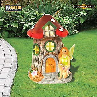 Solar Fairy House LED Light Cute Garden Pathway Borders Lawn Patio Decor Gift