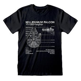 מלחמת הכוכבים המילניום הבז תרשים גברים ' חולצת s | הסחורה הרשמית