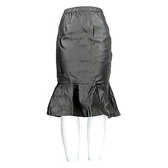 K Jordan Skirt Hip Hugging Fit Tiered Flounce Hem Black
