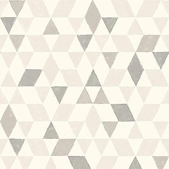 Scandi Triangles Fond d'écran Gris / Blanc Fine Decor FD41278