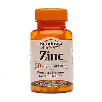 Sundown naturals zinc, 50 mg, caplets, 100 ea