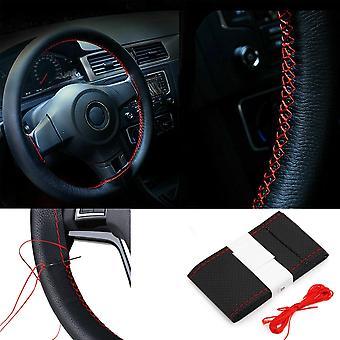 ARO 10 Series, 24 Series, IMS Series, M Series Black/Red Car Steering Wheel Cover DIY Kit