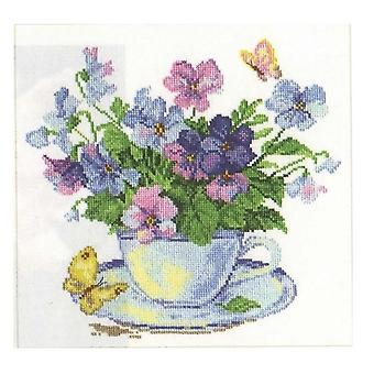 Alisa Cross Stitch Kit - Flores da Manhã