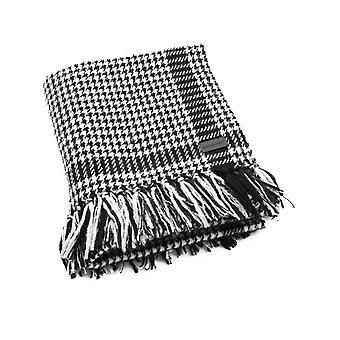 Saint Laurent 58068884yc781078 Uomini's Sciarpa di lana bianca/nera