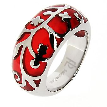 JB08A43 red steel ring and rine