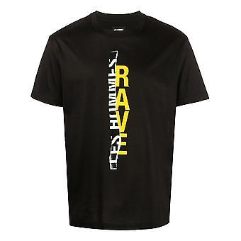 Les Hommes Lit204703p9002 Men's Black Cotton T-shirt