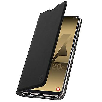 Muvit slim case, flip cover crystal case for Samsung Galaxy A20e – Black