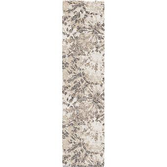 """23""""x 90""""x 1.28"""" Abstract Ivory Runner Rug"""