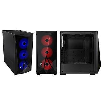 CORSAIR Karbid serien SPEC DELTA RGB Svart Mid Tower ATX Gaming Case