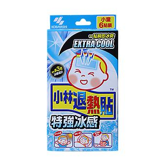 Kobayashi Cooling Gel Sheet Extra Cool Kid 6 Sheets