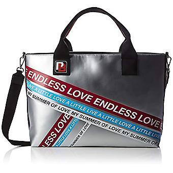 Pinko talento Shopping Gommato-print Lucida Women's hand Bag (zilver/Fuxia) 15x42x39 cm (b x H x L)