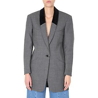 Maison Margiela S29bn0344s52955860f Women's Grey Wool Blazer