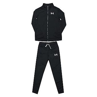 Boy's Under Armour Junior UA Knit Tracksuit in Black