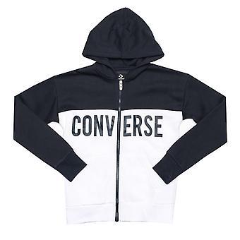Boy's Converse Junior Colourblock Zip Hoody in Blue