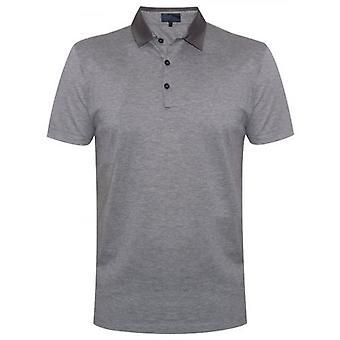Lanvin Grey Grosgrain Slim Fit Pique Polo Shirt