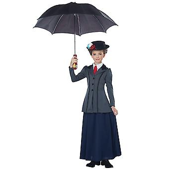 Inglés niñera Mary Poppins victoriano magic Maid libro semana niñas traje