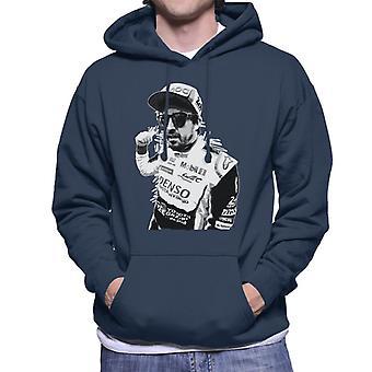 Motorsport Images Fernando Alonso Circuit De La Sarthe Men-apos;s Sweatshirt à capuchon