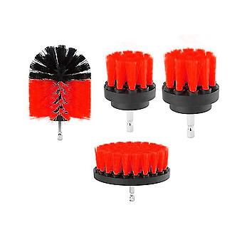 4 pieces set 2/3.5/4/5 inch All Purpose Drill Brush (Red)