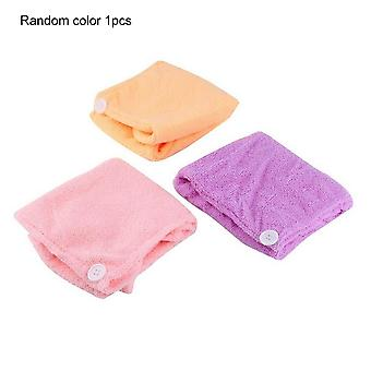 Quickly Dry Hair Hat - Cap Bath Drying Towel Head Wrap For Womens