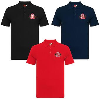 Sunderland AFC Official Football Gift Boys Crest Polo Shirt