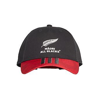 أداس الماوري جميع السود الرجبي مؤيد مروحة البيسبول قبعة قبعة الأسود / الأحمر