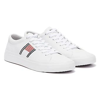 Tommy Hilfiger Signature Leather Low Mens White Trainers